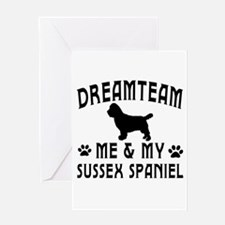 Sussex Spaniel Dog Designs Greeting Card