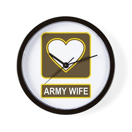 Army Wife Logo Wall Clock