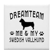 Swedish Vallhund Dog Designs Tile Coaster