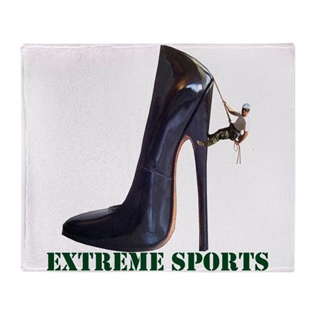 Extreme Sports - Shoe Climbing Throw Blanket