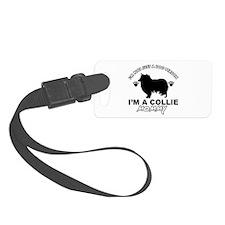 Collie dog breed designs Luggage Tag