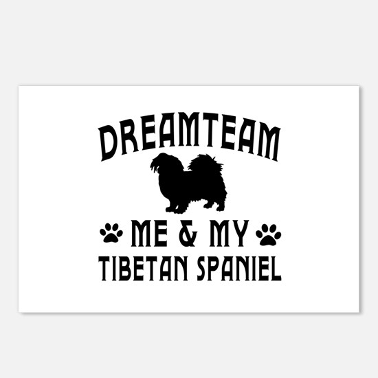 Tibetan Spaniel Dog Designs Postcards (Package of