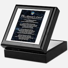 USAF Airman's Creed Keepsake Box