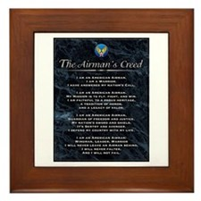 USAF Airman's Creed Framed Tile