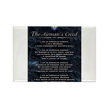 USAF Airman's Creed Rectangle Magnet