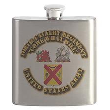 COA - 108th Cavalry Regiment Flask