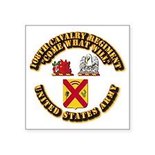 """COA - 108th Cavalry Regiment Square Sticker 3"""" x 3"""
