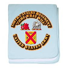 COA - 108th Cavalry Regiment baby blanket