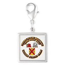 COA - 108th Cavalry Regiment Silver Square Charm