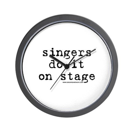 Singers Do it on Stage Wall Clock