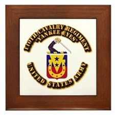 COA - 110th Cavalry Regiment Framed Tile