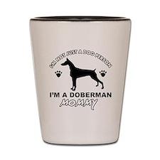 Doberman dog breed designs Shot Glass