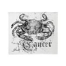 Worn Zodiac Cancer Throw Blanket