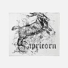 Worn Zodiac Capricorn Throw Blanket