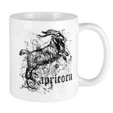 Worn Zodiac Capricorn Small Mug