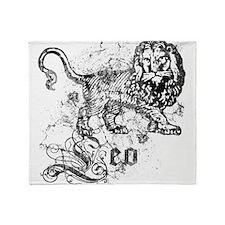 Worn Zodiac Leo Throw Blanket