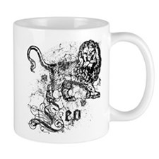 Worn Zodiac Leo Small Mug