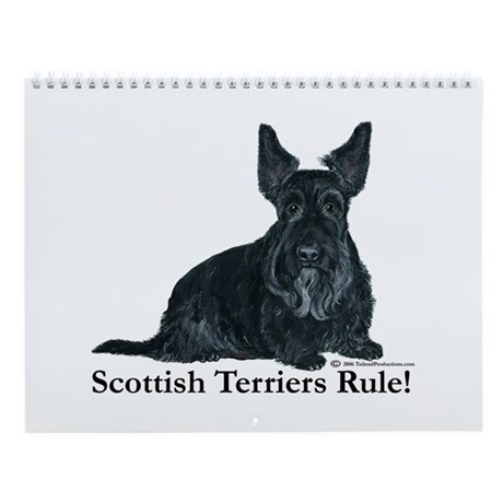 Scottie Calendar Wall Calendar