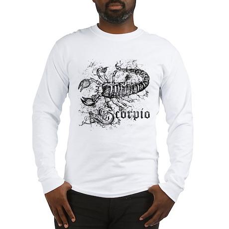 Worn Zodiac Scorpio Long Sleeve T-Shirt