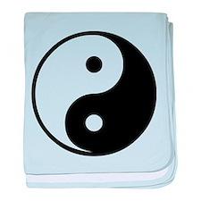 Yin Yang Symbol baby blanket