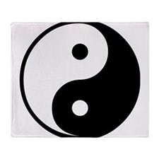 Yin Yang Symbol Throw Blanket
