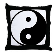Yin Yang Symbol Throw Pillow