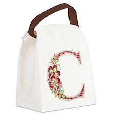 Monogram Letter C Canvas Lunch Bag