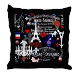 Eiffel tower vintage Throw Pillows