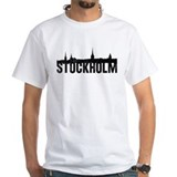Stockholm Mens White T-shirts