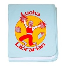 Lucha Librarian baby blanket