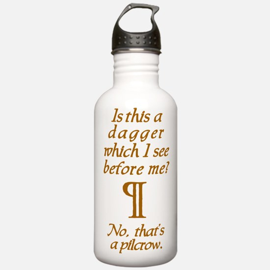 A Dagger No A Pilcrow Water Bottle