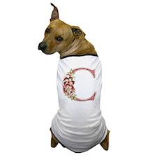 Monogram Letter C Dog T-Shirt