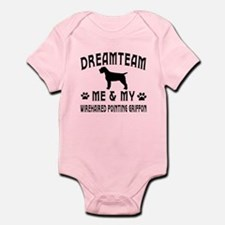 Wirehaired Pointing Griffon Dog Designs Infant Bod
