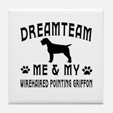 Wirehaired Pointing Griffon Dog Designs Tile Coast