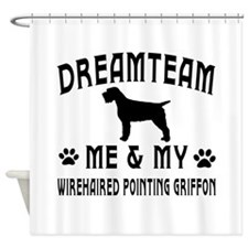 Wirehaired Pointing Griffon Dog Designs Shower Cur