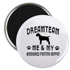 Wirehaired Pointing Griffon Dog Designs Magnet