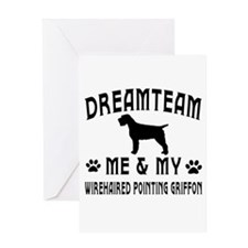 Wirehaired Pointing Griffon Dog Designs Greeting C