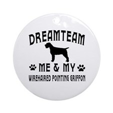 Wirehaired Pointing Griffon Dog Designs Ornament (