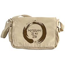 Photography is my Zen-1-sepia Messenger Bag