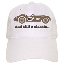 80th Birthday Classic Car Baseball Cap