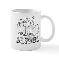 Alpaca 4 Black & White Mug