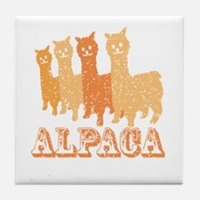 Cute Alpaca Tile Coaster