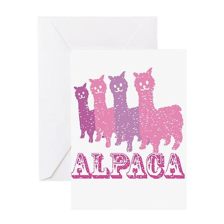 Alpaca 4 P Greeting Card