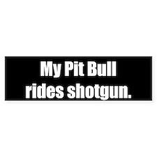 My Pit Bull rides shotgun (Original)