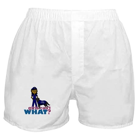 Canine Police Officer Boxer Shorts