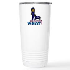 Canine Police Officer Travel Coffee Mug