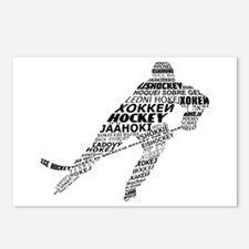 Hockey Languages Typography Postcards (Package of