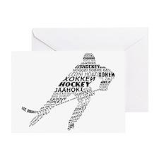 Hockey Languages Typography Greeting Card