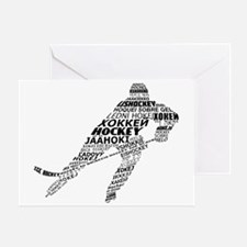 Hockey Languages Typography Greeting Card