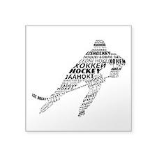 Hockey Languages Typography Sticker